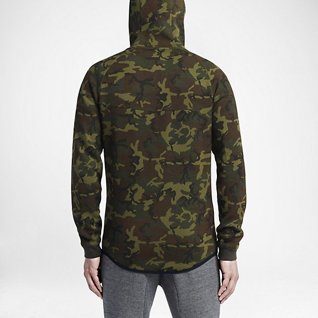 FW15 NIKE MEN'S TECH FLEECE WR CAMO1MM GREEN XS-3XL 送料無料