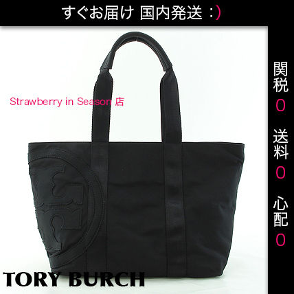 【国内発・関税送料0】PENN NYLON SMALL ZIP TOTE, BLACK