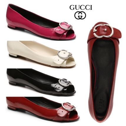 Sale★【Gucci】フラット★Leather Interlocking G Flat