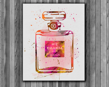 【関税送料込】☆ポスター☆Chanel 5 Perfume Bottle Print