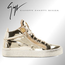 2016SS☆Giuseppe Zanotti☆Gold High-Top Sneakers