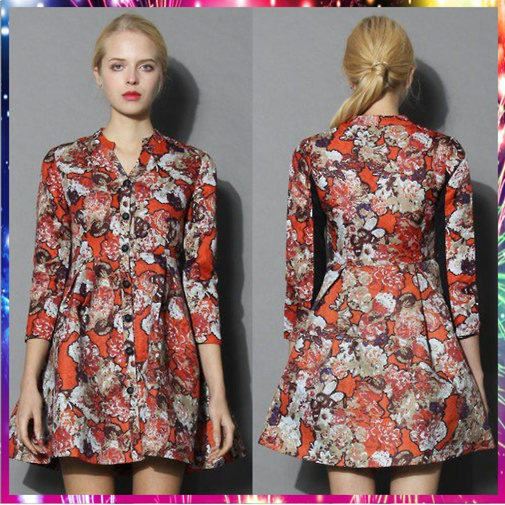 【送料・関税込・国内発送】Extra Lavish Floral Jacquard Dress