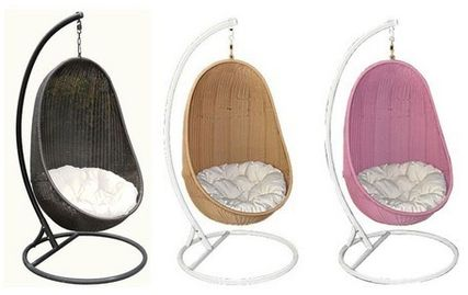 ♦ / Nordic-style oval hanging Chair.