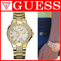 【大人気】 ☆GUESS☆Women's Gold Sport Crystal Glitz Watch