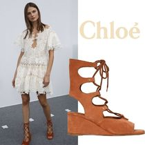 Chloe クロエ 70MM GLADIATOR SUEDE WEDGES