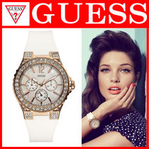 【大人気】☆GUESS☆Women's Multi-Function Crystallized Watch