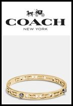 ☆日本未入荷!新作!!☆*COACH rivet pierced kissing c bangle