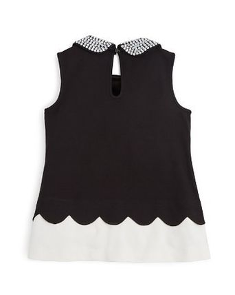 kate spade new york トップス 大人もOK kate spade Girls' Scalloped Ponte Knit Top(2)