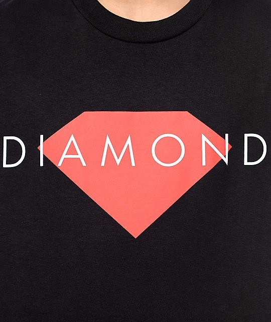 【送料無料】Diamond Supply Co Solid Black T-Shirt