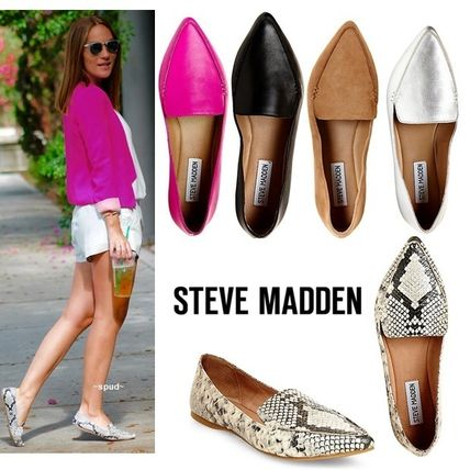 Multicolor with Steve Madden leather point toe flat