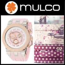 Mulco(マルコ) アナログ腕時計 【先取り】 MULCO Blue Marine Pink Dial Silicone Unisex Watch