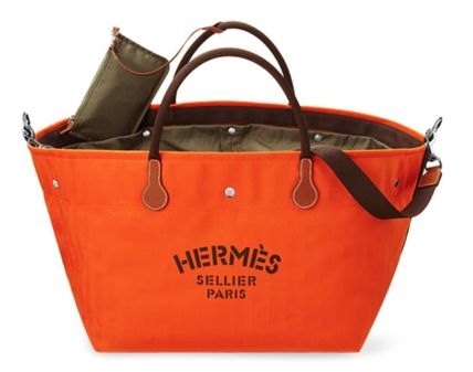 the latest 44435 63545 HERMES(エルメス)- カヴァリエバッグ トート オレンジ