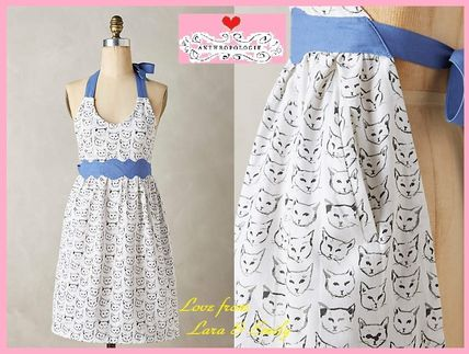 16 SS * * Anthropologie Cat Study Apron