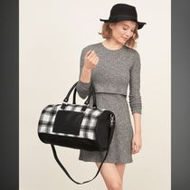 Plaid Duffle Bag (BLACK PLAID)