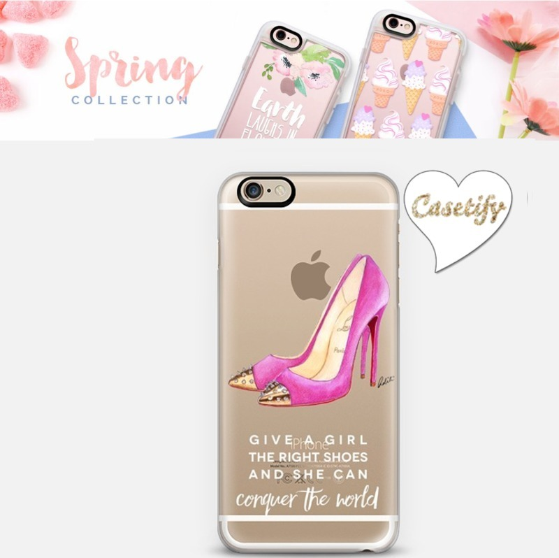 ☆Casetify☆ iPhoneクリアケース★Pink shoes【送料込】