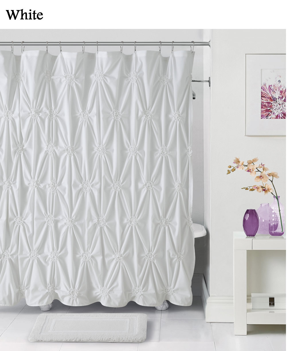 very consistent and shower curtain and bath mat set buyma cotton tufted chenille shower curtain amp bath mat set