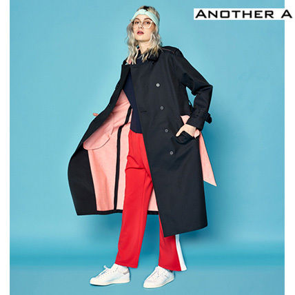 【ANOTHER A】正規品★韓国人気★トレンチコートBK(追跡配送)