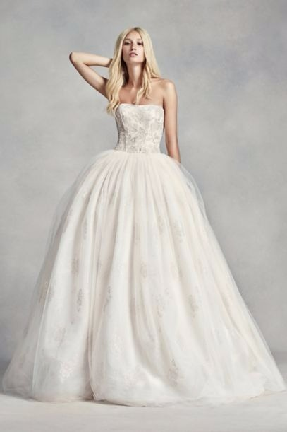 関税込&追跡便★Vera Wang Tulle Beaded Lace Wedding Dress