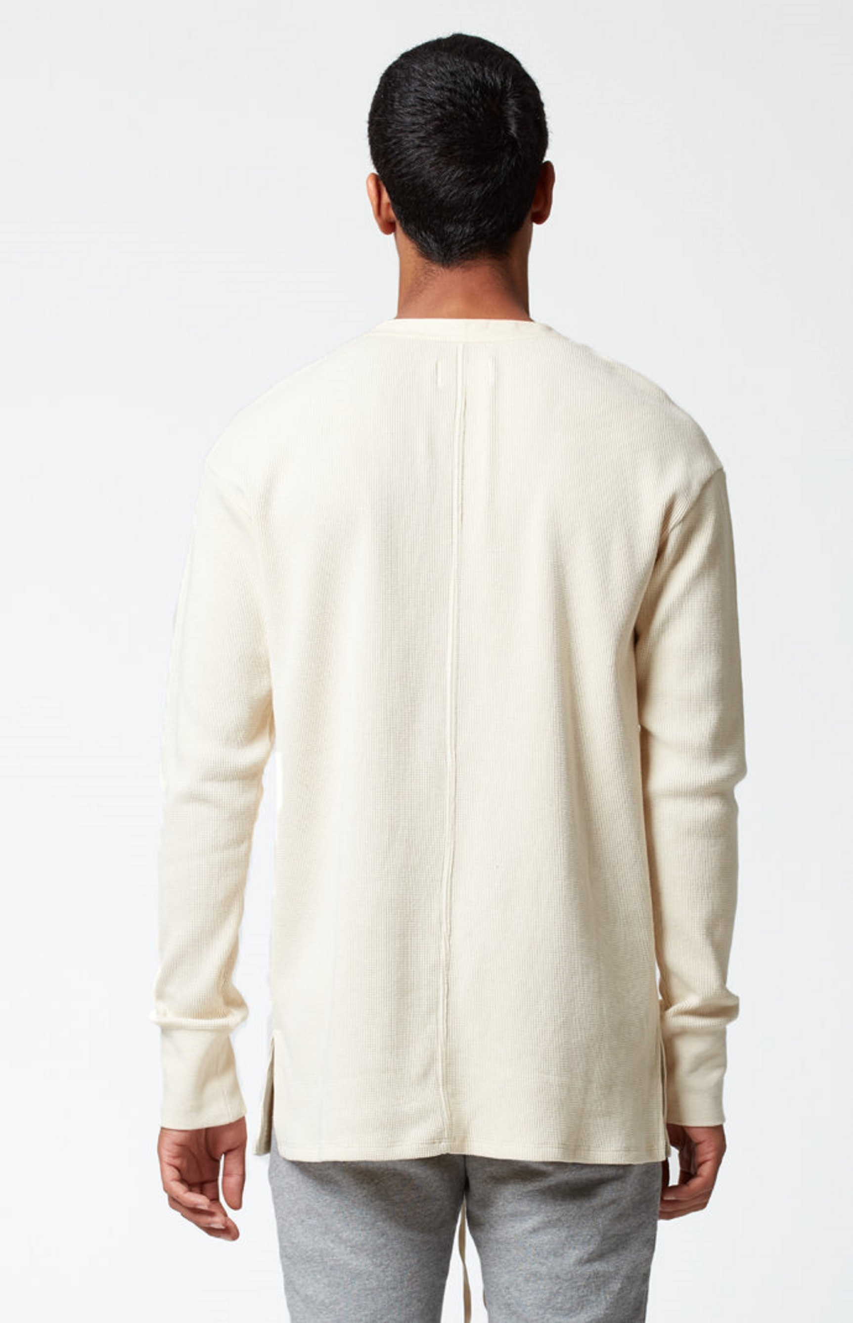 人気! 完売! FOG - Fear Of God Waffle Knit Henley Shirt ロンT