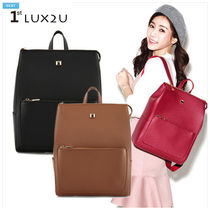 LUX2U★[Daily Backpack]ポケットスクエアバックパック gs287