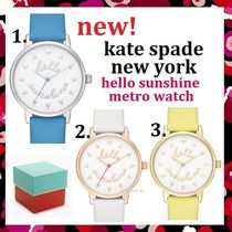 【新作】円高還元セール kate spade hello sunshine metro watch
