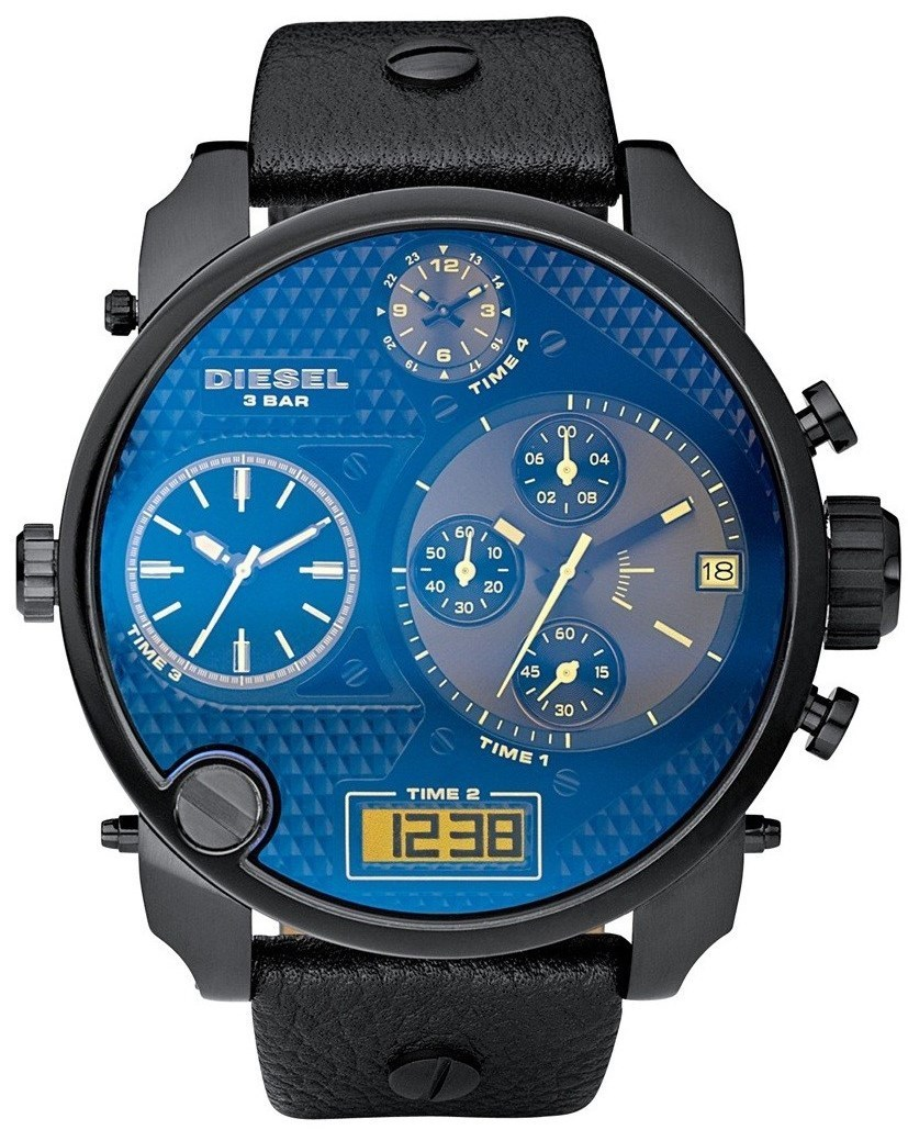 【大人気】DIESEL Men's Badass 4 Time Dial Oversize Big Watch