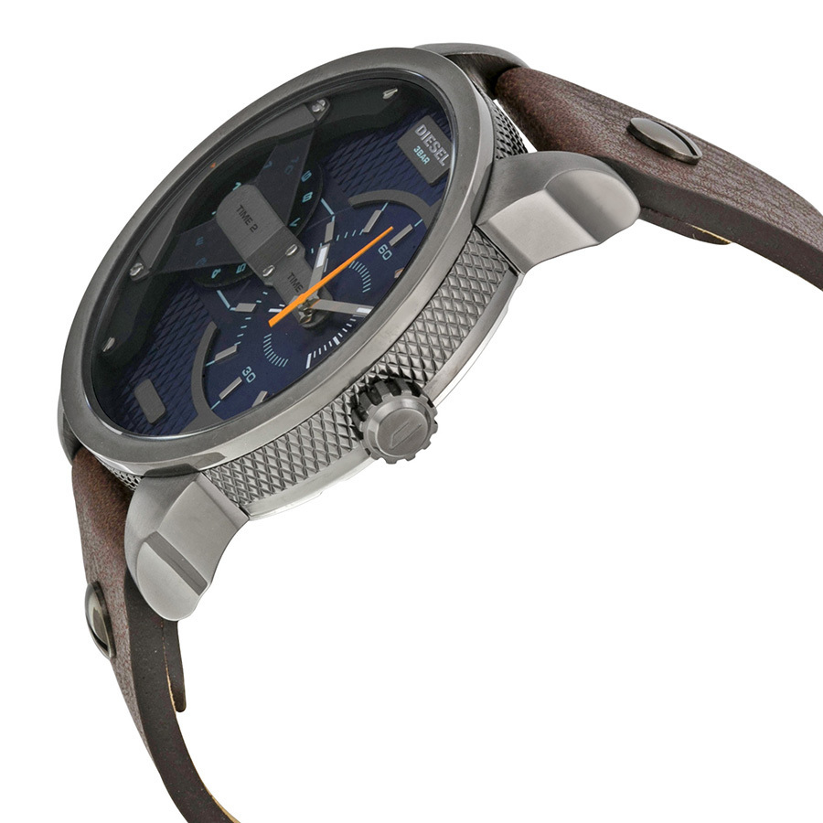 【大人気】 DIESEL Mini Daddy Blue Textured Dial Quartz Watch