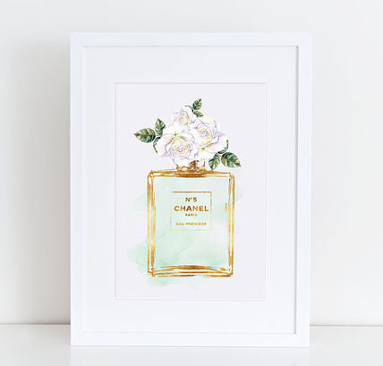 A4/A3 CHANEL / Chanel perfume flower poster