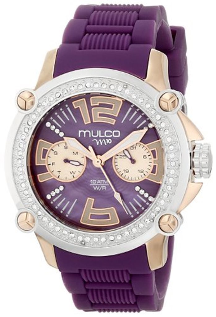 【日本未入荷】 MULCO Purple Rubber Swiss Multifunction Watch