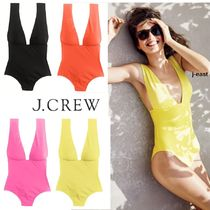 J.CREW V-NECK ONE-PIECE SWIMSUIT IN ITALIAN MATTE  国内発送