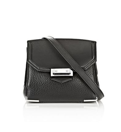ALEXANDER WANG MARION IN PEBBLED BLACK WITH RHODIUM