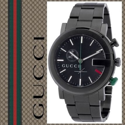 info for 6d135 29d90 カッコいい♪ ☆GUCCI ☆ YA101331 Gラウンド メンズ腕時計