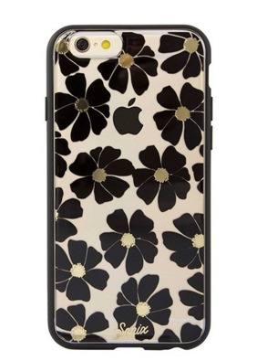 送料・関税無料! Sonix Wildflower(Black) iphone6/6sケース