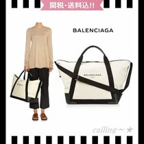 2016SS!!★BALENCIAGA★Large Cotton-Canvas Weekend Bag