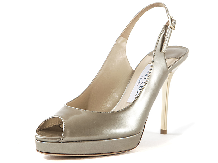 【関税負担】  JIMMY CHOO 121NOVA LIGHT KHAKI /EMS