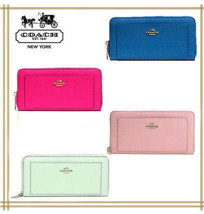 COACH ★ ACCORDION ZIP WALLET IN LEATHER F52648 国内発送!