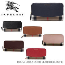 【BURBERRY-バーバリー】ELMORE House Check Derby Leather