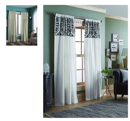 Color, length embroidery is a nice cotton curtains with