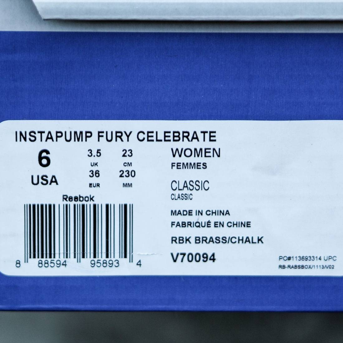 【送料無料】REEBOK WOMEN INSTAPUMP FURY CELEBRATE