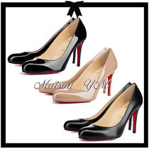 送料込*Christian Louboutin*Simple Pump*エナメル/レザー*85mm