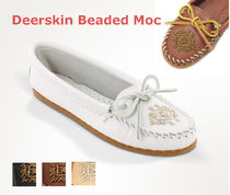 Minnetonka  Deerskin Beaded モカシン (箱付き)