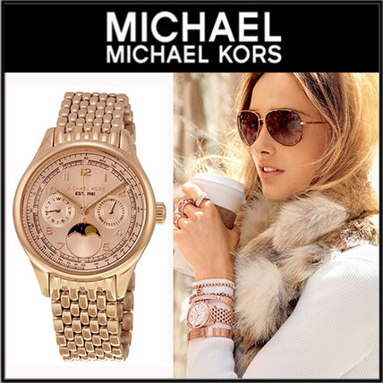 【大人気】Michael Kors Amelia Multi-Function Rose Dial Watch