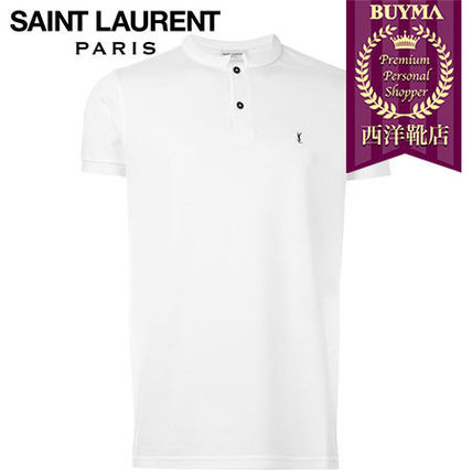 SAINT LAURENT┃16SS┃MANDARIN COLLAR POLO SHIRT