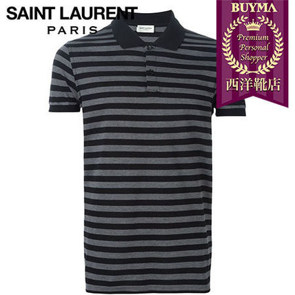 SAINT LAURENT┃16SS┃STRIPED POLO SHIRT