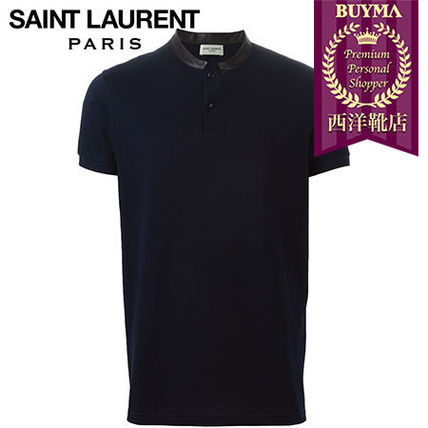 SAINT LAURENT┃16SS┃BAND COLLAR POLO SHIRT