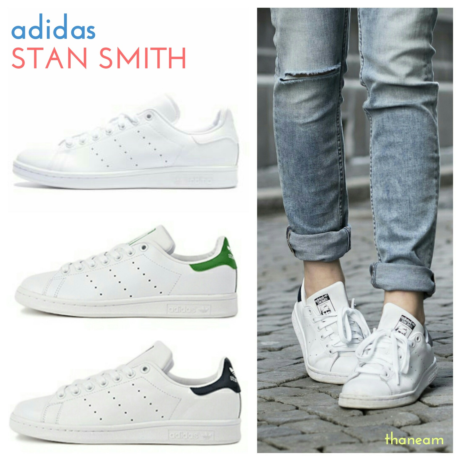 〓adidas〓STAN SMITH NAVY/GREEN/WHITEスタンスミス 3カラー