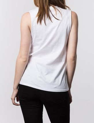 STUSSY Tシャツ・カットソー ステューシー 2941310 WOMEN NO. 4 DOODLE MUSCLE TEE WHITE(4)