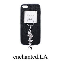 超人気★iPhoneケース【enchantedLA】SPARKLE STARS CHARM COVER