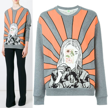 16SS SM174 STELLA McCARTNEY embroidered portrait sweatshirt