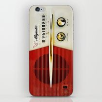 【海外限定】society6★Retro Majestic radio iPhoneシール